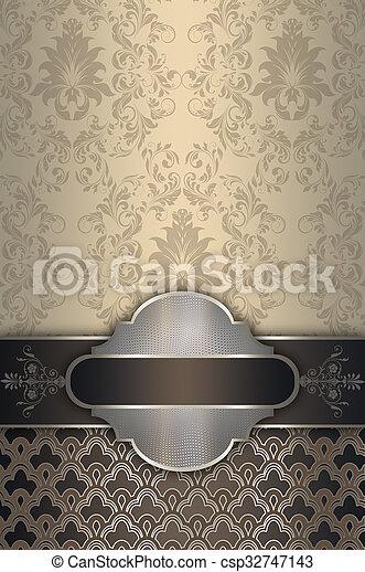decoratief, elegant, frame., achtergrond - csp32747143