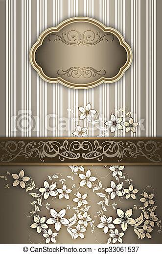 decoratief, elegant, frame., achtergrond - csp33061537