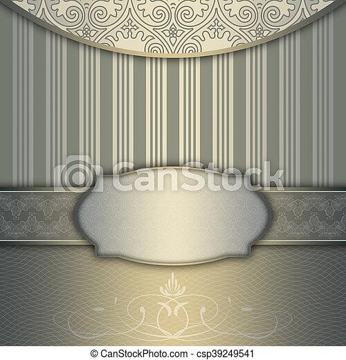 decoratief, elegant, frame, patterns., achtergrond - csp39249541