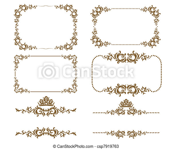 decoratief, frame - csp7919763