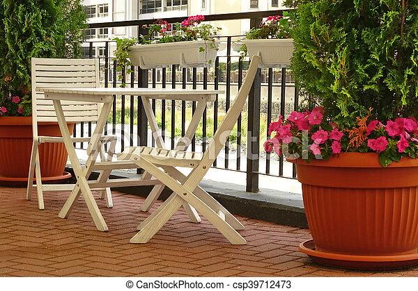 Houten Balkon Meubels : Decoratief garden. houten kleine balkon meubel. decoratief