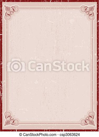 decoratief, grunge, grens - csp3063624