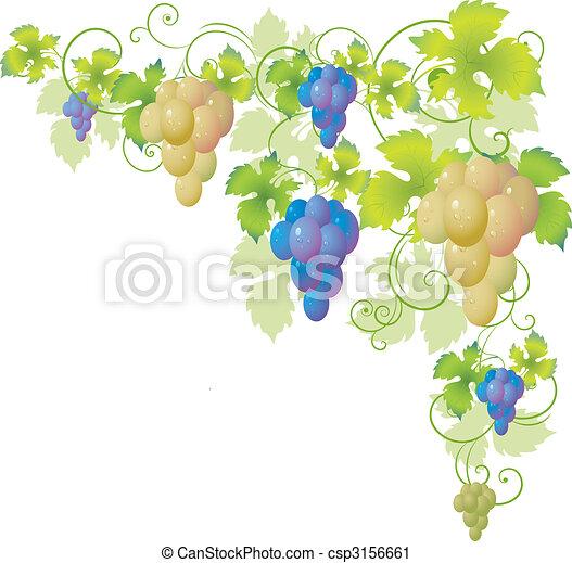 decoratief, hoek, wijnstok - csp3156661