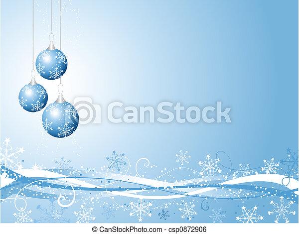 decoratief, kerstmis, achtergrond - csp0872906