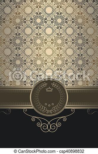 decoratief, ouderwetse , frame., achtergrond - csp40898832