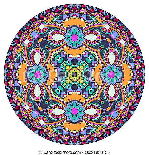 decoratief, patte, ronde, ontwerp, schaaltje, geometrisch, cirkel, mal - csp21958156