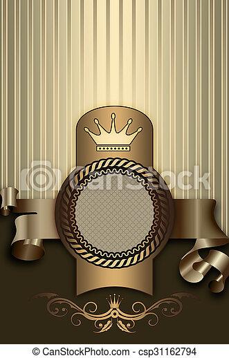 decoratief, ribbon., frame, achtergrond, elegant - csp31162794