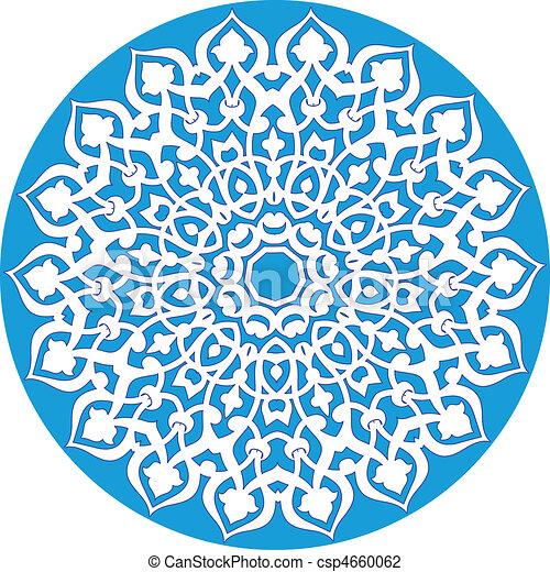 decoratieve knippatroon - csp4660062