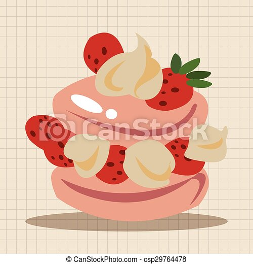 decorating cake theme elements - csp29764478