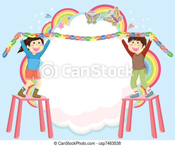 vector decorating kids