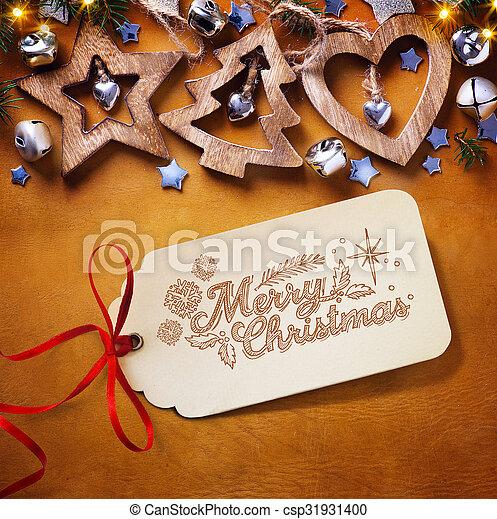 decoration;, albero, natale, fondo - csp31931400