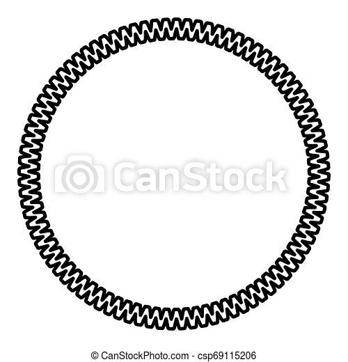 Decoration circle Decorative line Art frame icon outline black color vector illustration flat style image - csp69115206