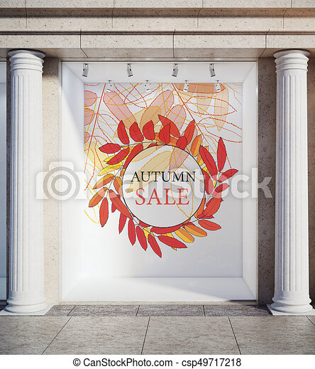 Storefront Window Display Glass Showcase Exterior With Concrete Mesmerizing 3D Exterior Rendering Creative Decoration