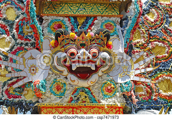 Decoration for the Bali Cremation Ceremony - csp7471973
