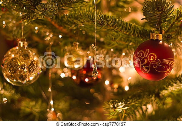 Decoration in christmas tree - shallow dof - csp7770137