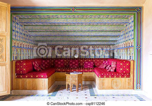 decoration of salon Arabic style, We take the leg stock image ...