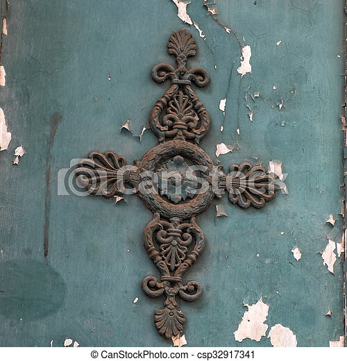 decoration on a door - csp32917341