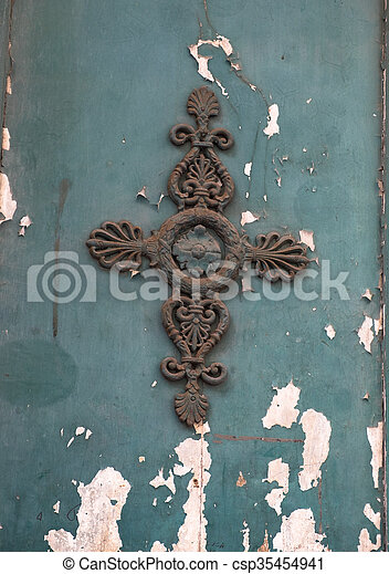 Decoration on a door - csp35454941