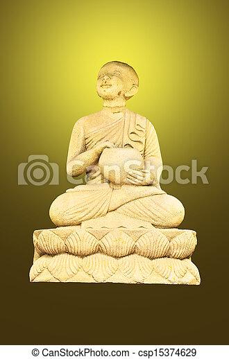 decoration sandstone buddha - csp15374629