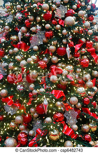 decorations and ornaments on huge christmas tree a huge custom