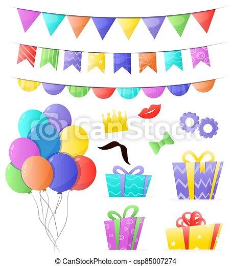 Decorations set of birthday - csp85007274