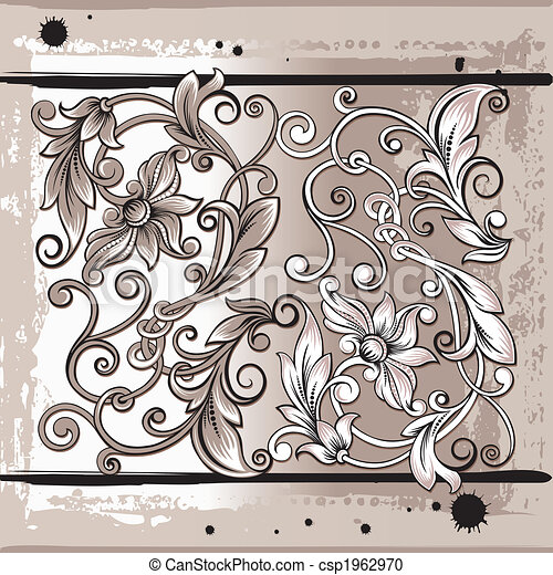 Decorativ Floral Elements - csp1962970