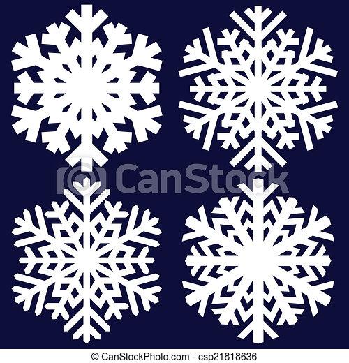 Decorative abstract snowflake. - csp21818636