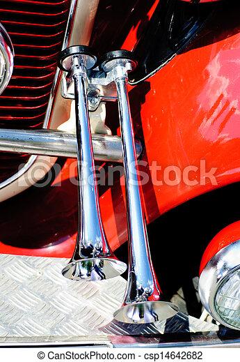 Decorative air horn on the car - csp14642682