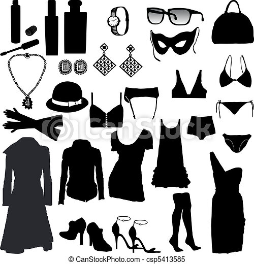 Decorative and feminine clothing it - csp5413585