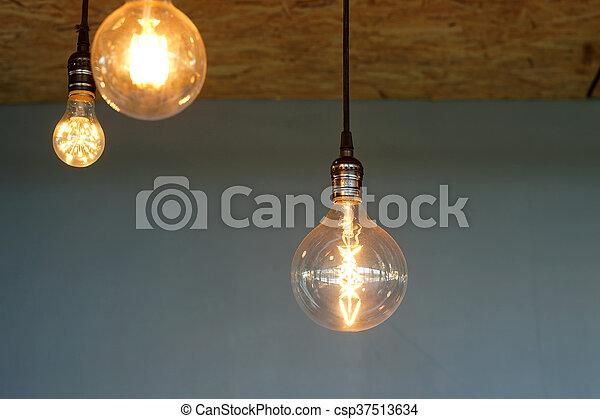 Decorative Antique Tungsten Light Bulbs   Csp37513634