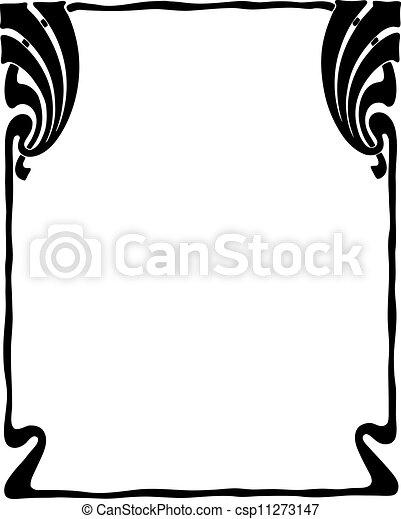 Decorative Art Nouveau Frame - csp11273147