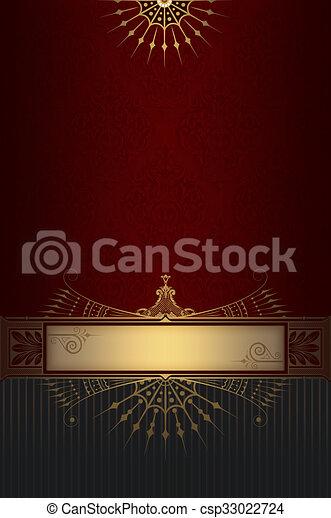 Decorative Background With Elegant Border
