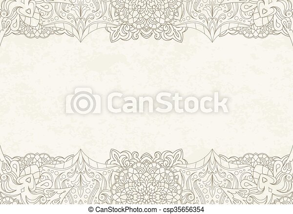 Decorative background with henna elements in east mandala style for vector decorative background with henna elements in east mandala style for text design or invitation card stopboris Gallery