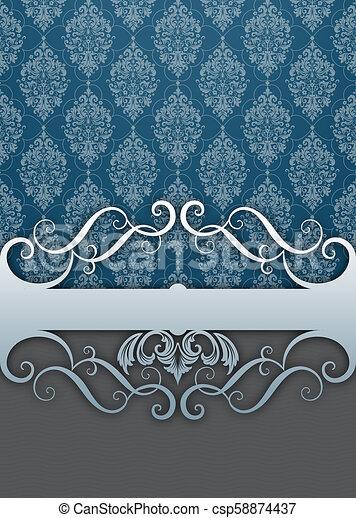 Decorative background with vintage patterns. - csp58874437