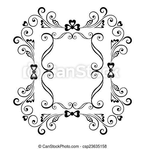 Decorative border - csp23635158