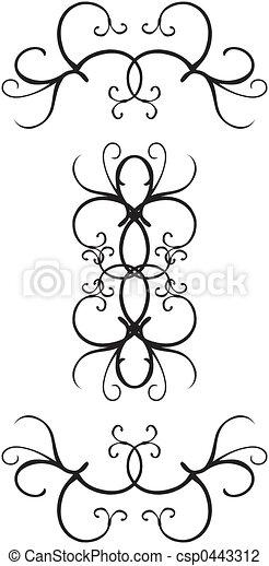 Decorative border designs - csp0443312