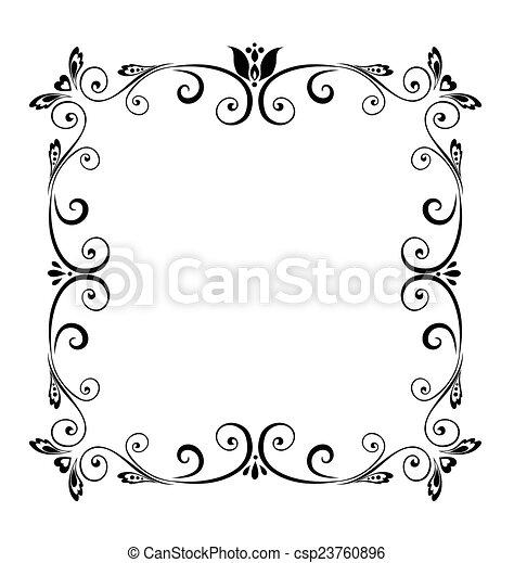 Decorative border - csp23760896