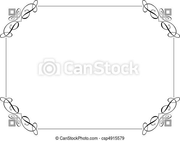 Decorative border - csp4915579