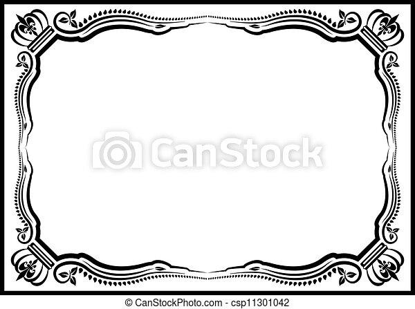 decorative border - csp11301042