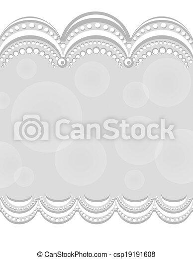 decorative border gray center design folder covers or postcard
