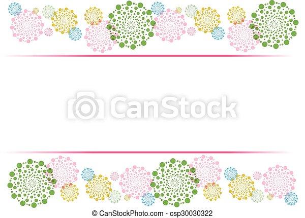 decorative border - csp30030322