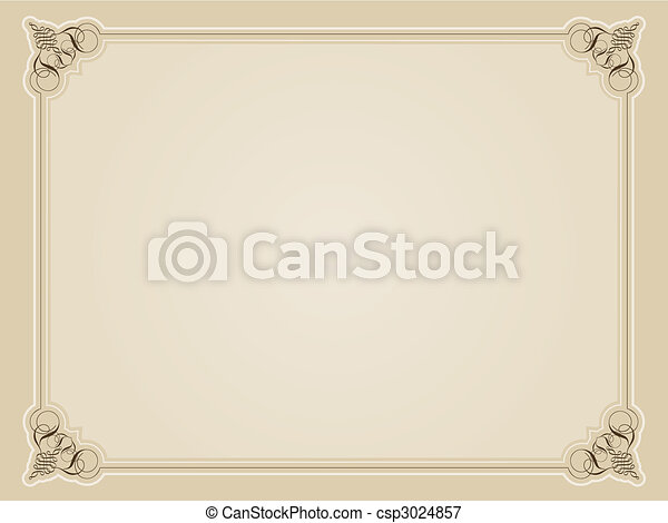 Decorative border - csp3024857