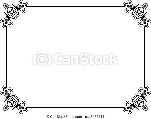 Decorative border - csp5935511