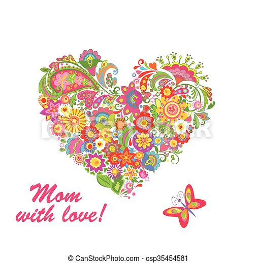 Decorative bouquet for Mothers day - csp35454581