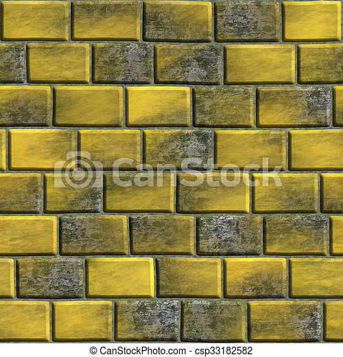 Decorative brick texture in the form of a square tile stock ...