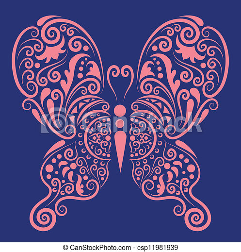 decorative butterfly 2 csp11981939 - Butterflies To Color 2