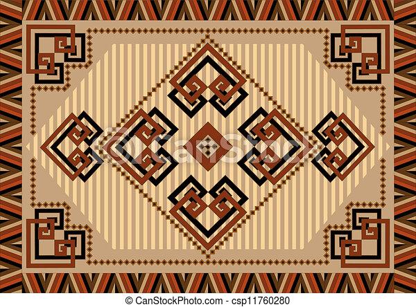 Decorative Carpet Designs In Orient Stock Illustration