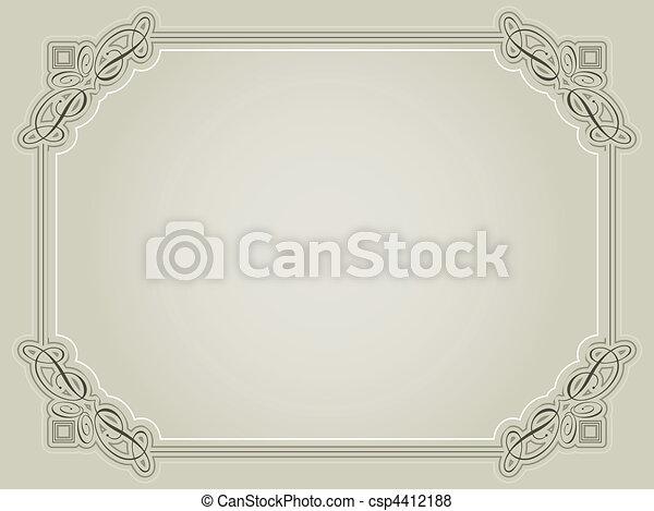 Decorative certificate background - csp4412188