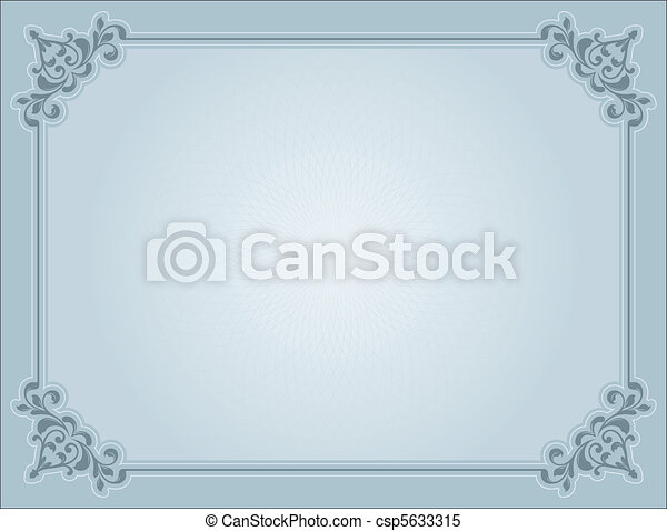 Decorative certificate - csp5633315