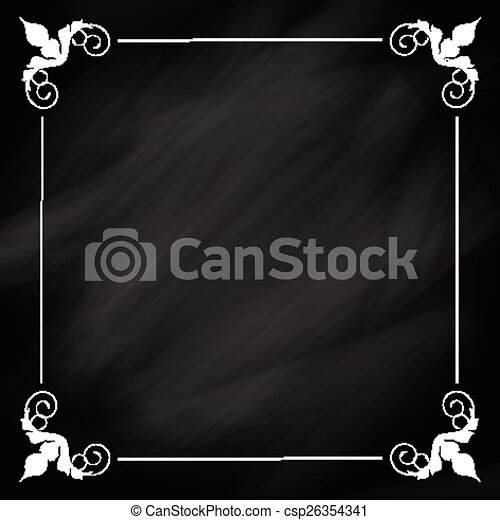 Decorative Chalkboard Background With A